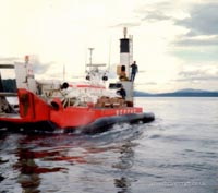 SRN craft operating with the Canadian Coastguard - Servicing the light of the Gulf Islands (Paul Brett).
