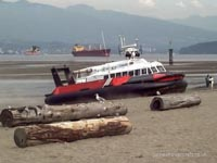 SRN craft operating with the Canadian Coastguard - Hovercraft 039 at English Bay Beach (Paul Brett).