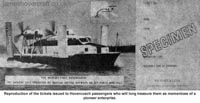 Liverpool Echo article about the VA-3 service - Ticket for travel on the VA3, the world's first hovercoach (Paul Greening).