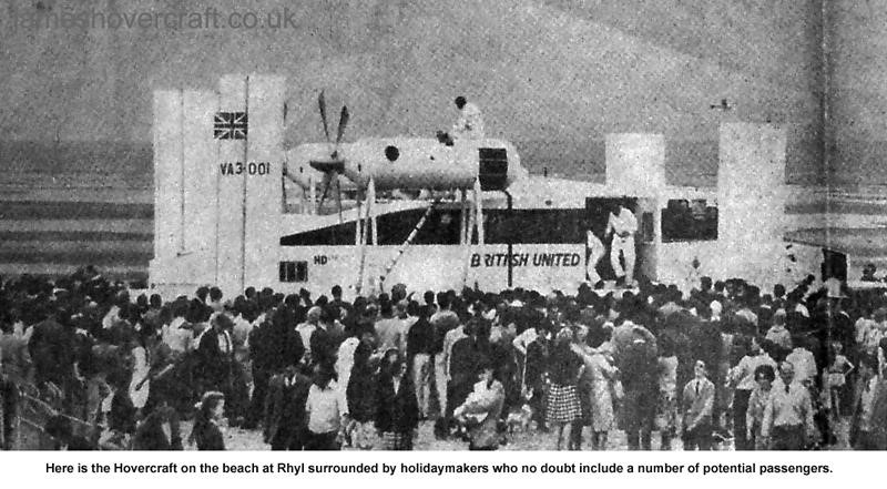Liverpool Echo article about the VA-3 service - Rhyl beach, surrounded by holidaymakers (Paul Greening).
