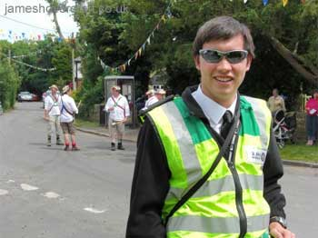 About me - On duty with St John Ambulance at Kent's Hougham Village Fete, 2009 (James Rowson).