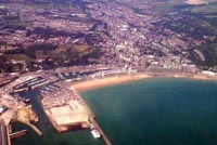 About me - Dover Harbour from the air (James Rowson).