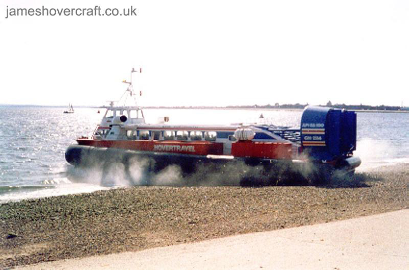 AP1-88 hovercraft - Freedom 90 leaving Southsea hoverport (Photo: David Ingham)