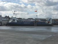 AP1-88 hovercraft - Island Express seen landed at Ryde (Photo: me)