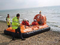 Association of Search and Rescue Hovercraft (Great Britain) - A performance check after a recent engine change to increase the craft's performance (Paul Hiseman).