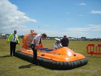 Association of Search and Rescue Hovercraft (Great Britain) - The craft being walked out of arena so as not to blow people over (Paul Hiseman).