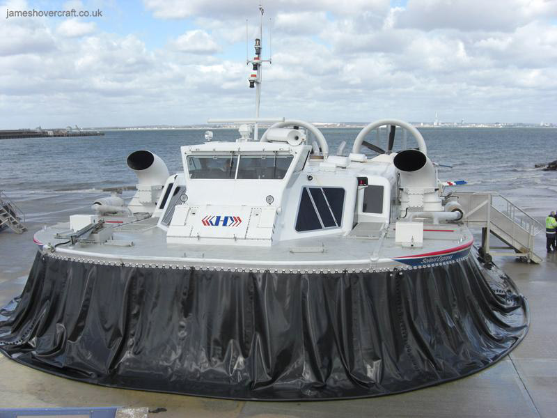 Hoverwork British Hovercraft Technology BHT-130 - Solent Express at Ryde (James Rowson).