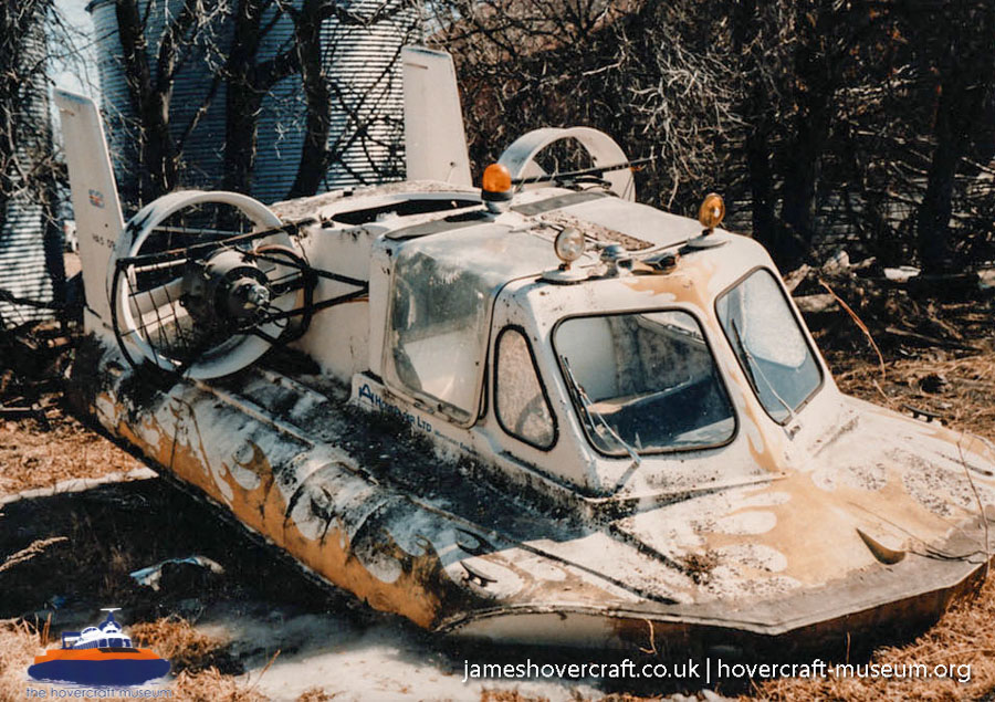 Hoverhawk HA5 derelict -   (The <a href='http://www.hovercraft-museum.org/' target='_blank'>Hovercraft Museum Trust</a>).
