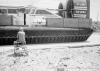 AP1-88 hovercraft at the Hovertravel maintenance hangar -   (The <a href='http://www.hovercraft-museum.org/' target='_blank'>Hovercraft Museum Trust</a>).