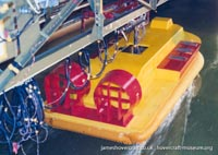 AP1-88 hovercraft testing model at sea -   (The <a href='http://www.hovercraft-museum.org/' target='_blank'>Hovercraft Museum Trust</a>).