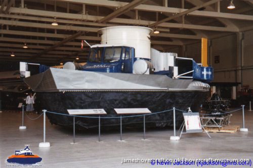 SRN1 at Wroughton -   (The <a href='http://www.hovercraft-museum.org/' target='_blank'>Hovercraft Museum Trust</a> - Kevin Jackson).