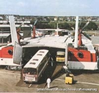 SRN4 The Prince of Wales (GH-2054) with Hoverlloyd -   (The <a href='http://www.hovercraft-museum.org/' target='_blank'>Hovercraft Museum Trust</a>).