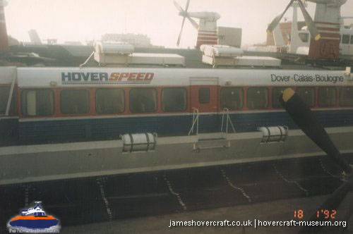SRN4 The Prince of Wales (GH-2054) with Hoverspeed -   (The <a href='http://www.hovercraft-museum.org/' target='_blank'>Hovercraft Museum Trust</a>).