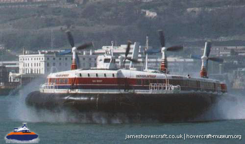 SRN4 The Princess Anne (GH-2007) with Hoverspeed -   (The <a href='http://www.hovercraft-museum.org/' target='_blank'>Hovercraft Museum Trust</a>).
