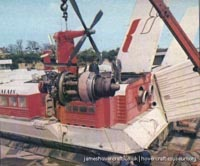 SRN4 engineering at Pegwell Bay hoverport -   (The <a href='http://www.hovercraft-museum.org/' target='_blank'>Hovercraft Museum Trust</a>).