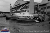 SRN6 with BHC colours -   (The Hovercraft Museum Trust).