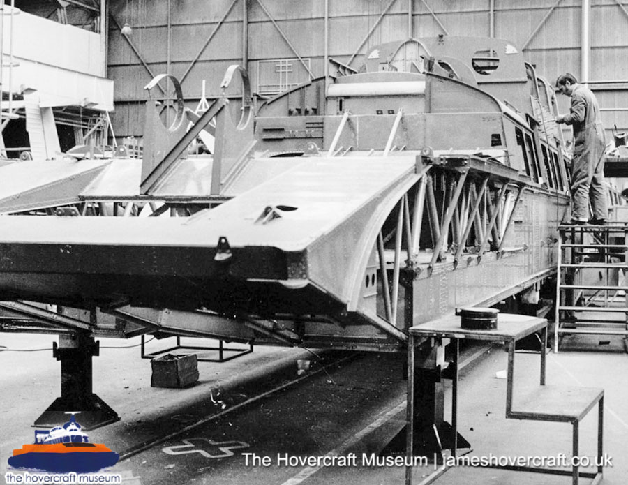 SRN6 close-up details - Factory (The Hovercraft Museum Trust).