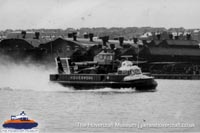 SRN6 with Hoverwork -   (The Hovercraft Museum Trust).