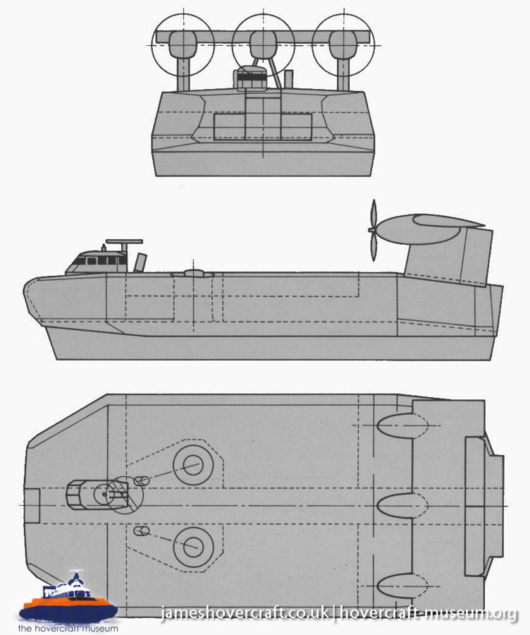 SEDAM N500 diagrams -   (The <a href='http://www.hovercraft-museum.org/' target='_blank'>Hovercraft Museum Trust</a>).