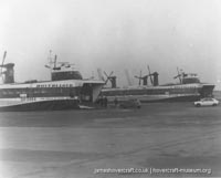 Pegwell Bay hoverport -   (The <a href='http://www.hovercraft-museum.org/' target='_blank'>Hovercraft Museum Trust</a>).