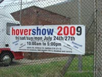 Hovershow 2009 banner at HMS Daedalus