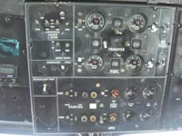 SRN4 at the 2011 Hovershow - Cockpit Overhead panel showing fuel and APU system (James Rowson).