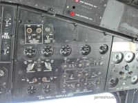 SRN4 at the 2011 Hovershow - Cockpit Electronics overhead panel (James Rowson).
