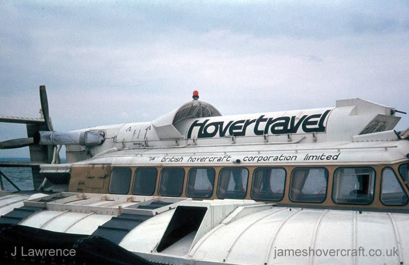 The SRN6 with Hovertravel - View of the superstructure (Pat Lawrence).