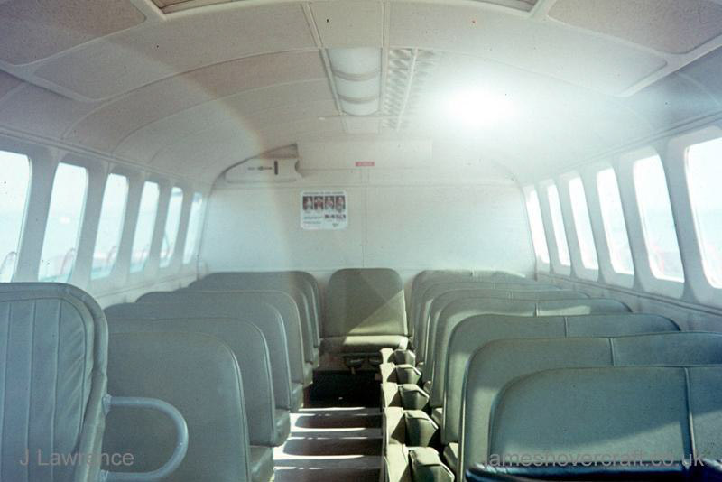 The SRN6 with Hovertravel - View of the interior passenger cabin (Pat Lawrence).