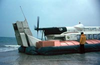 The SRN6 with Hovertravel - Closeup of the fin and propeller (Pat Lawrence).
