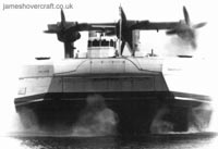 Hovercraft SEDAM N500 - Ingenieur Jean Bertin from the front