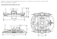 Hovercraft SRN1 general arrangement drawing