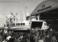 Building the SRN4, at the time the world's largest hoverport, at the British Hovercraft Corporation's Columbine Works - Public open day of the first SRN4 under construction, without bow doors or skirt (Nigel Thornton).