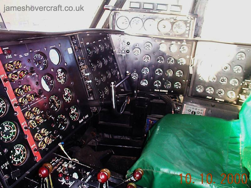 SRN4 Mk III Cockpit - Right hand seat and RPM consoles (James Rowson).