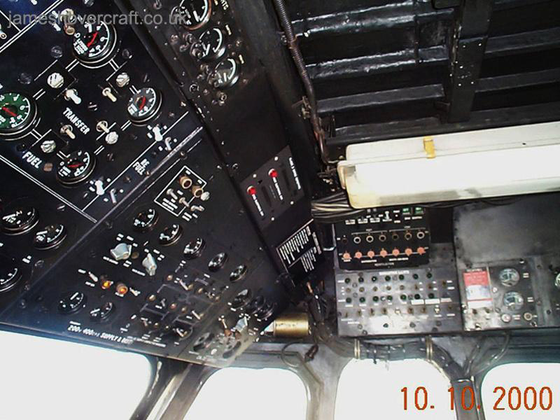 SRN4 Mk III Cockpit - Overhead panel for electronics and switchgear (James Rowson).