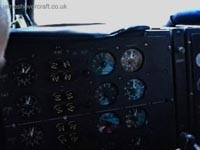 SRN4 Mk III Cockpit - RPMs for the turbines, and fire cutoff switches (James Rowson).