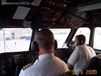 The last days of the SRN4 cross-channel service with Hoverspeed - In the flight-deck of The Princess Margaret (GH-2007) during a pirhouette departure from Calais (James Rowson).