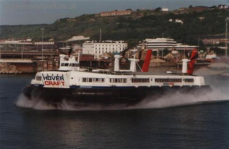 SRN4s operating with Hoverspeed - The Princess Anne (GH-2006) departing Dover