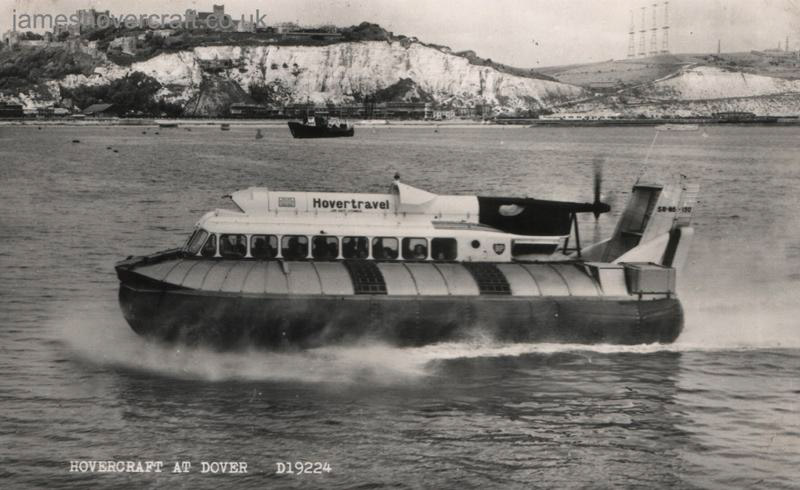The SRN6 operations from Dover - Passing through the outer harbour (Nigel Thornton).