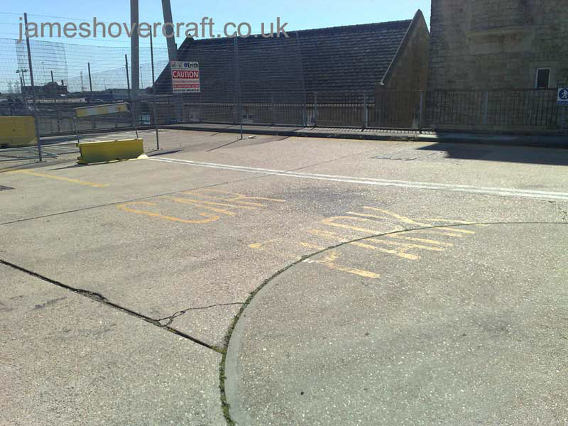 Dover Hoverport being demolished, June 2009 - Still visible, signs pointing drivers to the car park (James Rowson).