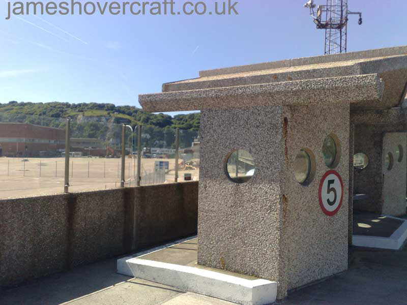 Dover Hoverport being demolished, June 2009 - Shelter overlooking the hoverpad. Once there were six SRN4s on that stretch of concrete! (James Rowson).