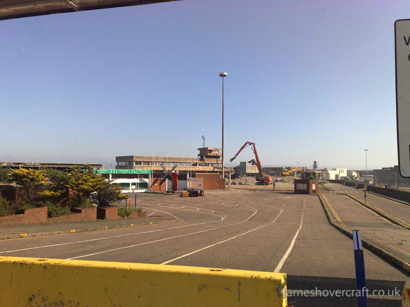 Dover Hoverport being demolished, July 2009 - The main terminal buildings, slowly reducing to rubble (James Rowson).