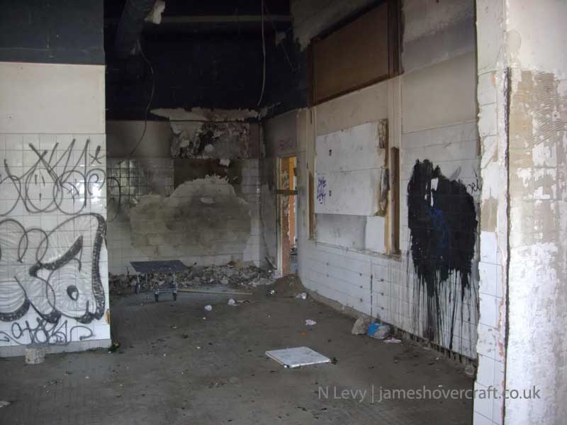 A recce of the derelict buildings of the old Boulogne Hoverport - Bathrooms (N Levy).