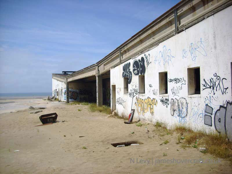 A recce of the derelict buildings of the old Boulogne Hoverport - Outside the terminal building, to the South (N Levy).
