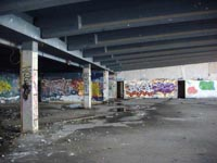 A recce of the derelict buildings of the old Boulogne Hoverport - Inside the terminal building (N Levy).
