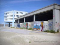A recce of the derelict buildings of the old Boulogne Hoverport - Front of the terminal building (N Levy).