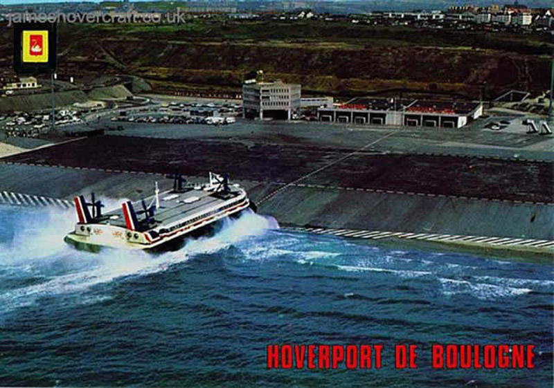 Postcards of Boulogne Hoverport - Postcards of Boulogne hoverport from the air (Nigel Thornton).
