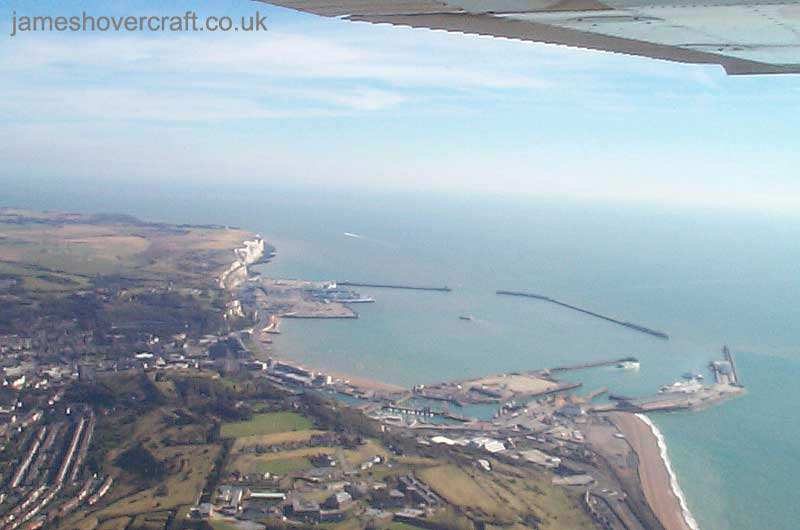 Dover Western Docks hoverport - Dover harbour from the air (James Rowson)