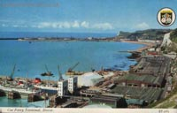The Dover Eastern Docks, and when there was a Seaspeed hoverport there - Colour postcard showing the initial phase of construction of the new Seaspeed hoverport (Nigel Thornton).