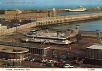 The Dover Eastern Docks, and when there was a Seaspeed hoverport there - The Princess Anne (GH-2006) on the pad at Dover Eastern Docks hoverport (Nigel Thornton).